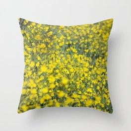 Beautiful shiny yellow Throw Pillow