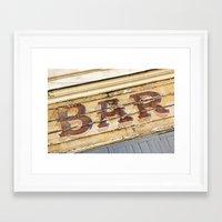 bar Framed Art Prints featuring Bar by Chantal Seigneurgens