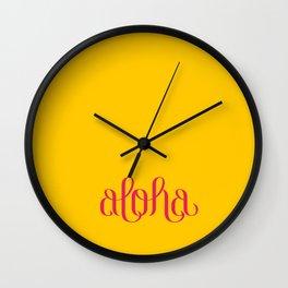 aloha Wall Clock