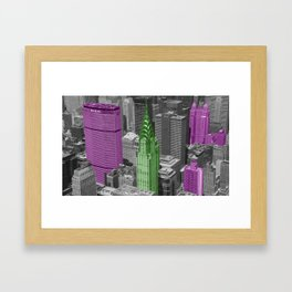 Color Loss City NYC Framed Art Print