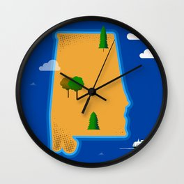 Alabama Island Wall Clock