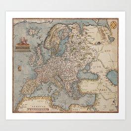 ABRAHAM ORTELIUS, EUROPAE Art Print