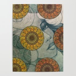 Mandala and Girl Design Poster