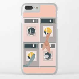 Laundro-mer-mat Clear iPhone Case
