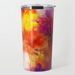 Composition #58 (purple, yellow and red) Travel Mug