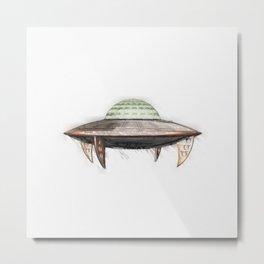 Classic UFO Metal Print