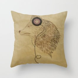 Woolfymusic Throw Pillow