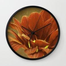 Vintage Chrysanthemum Wall Clock