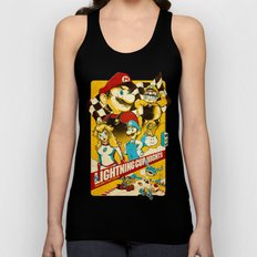 Lightning Cup Nights: The Fast & the Fungus Unisex Tank Top