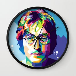 John Lenon In Pop Art Wall Clock