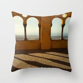Shadows and Light - Pena Palace, Sintra Throw Pillow