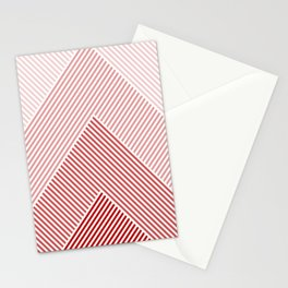 Shades of Red Abstract geometric pattern Stationery Cards