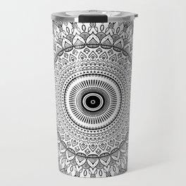 black and white mandala Travel Mug