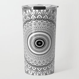 black and white mandala Travel Mug