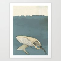 whales Art Prints featuring Whales by Mikael Biström