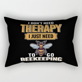 Don't Need Therapy Beekeeper Distressed Rectangular Pillow