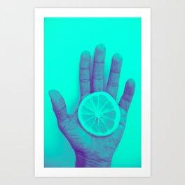 Lemon pop 2 Art Print