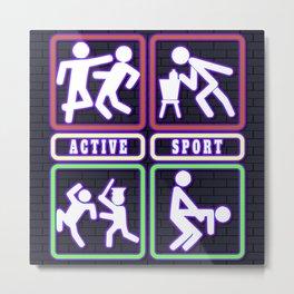 Active Sport Metal Print
