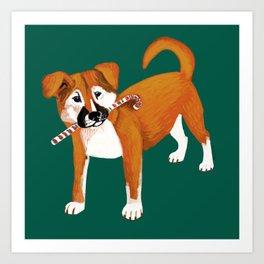 Puppy Chritsmas Art Print