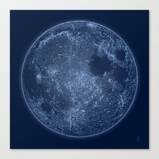 Dark Side of the Moon - Painting Canvas Print