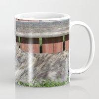 greyhound Mugs featuring Greyhound by Kamilla