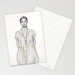 Catwalk model Stationery Cards