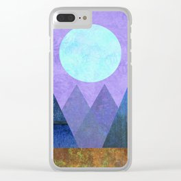Take Me Away, Mountains, Full Moon Clear iPhone Case