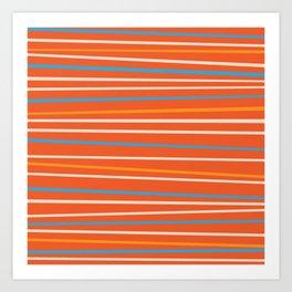 Orange Stripes Art Print