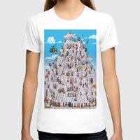 climbing T-shirts featuring Bubble climbing by Caiocomix