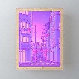 Asakusa Lights Framed Mini Art Print
