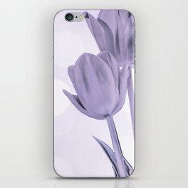Tulips (b&w) iPhone Skin