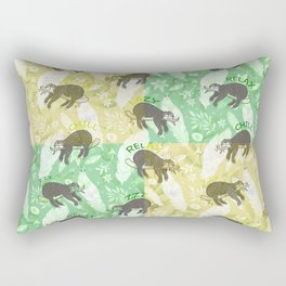 Mozaic Lazy Boho Sloth On Yellow and Green Background Rectangular Pillow