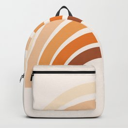 Boho bisque pink step up rainbow Backpack