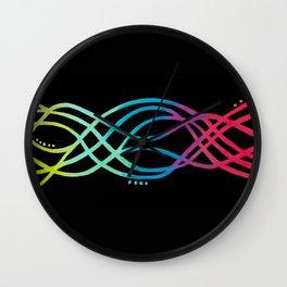 Electric Rainbow Wall Clock