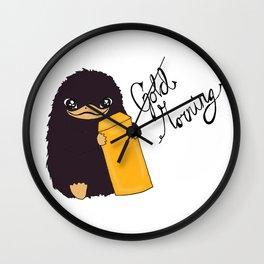 Niffler says Gold morning Wall Clock