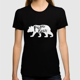 Papa Bear - White T-shirt