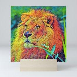 AnimalColor_Lion_005_by_JAMColors Mini Art Print