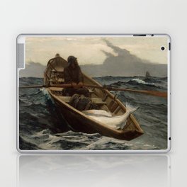 The Fog Warning / Halibut Fishing by Winslow Homer Laptop & iPad Skin