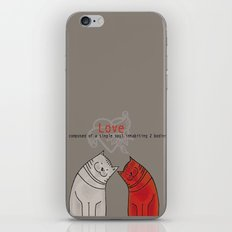 LOVE is a single soul in two bodies iPhone & iPod Skin