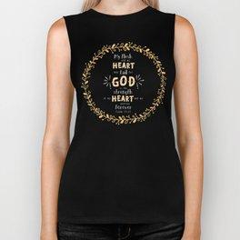 """Strength of my Heart"" Hand-Lettered Bible Verse Biker Tank"