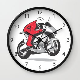 Motorcycle racer Wall Clock