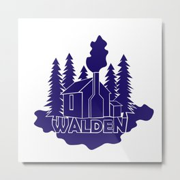 Walden - Henry David Thoreau (Blue version) Metal Print