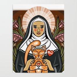St. Gertrude, Patron Saint of Cats Poster