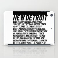 detroit iPad Cases featuring New Detroit by ashurcollective