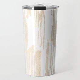 White Gold Sands Thin Bamboo Stripes Travel Mug