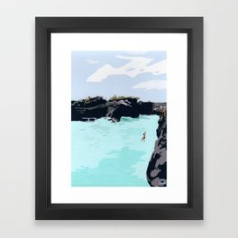 Cliff Jump Framed Art Print