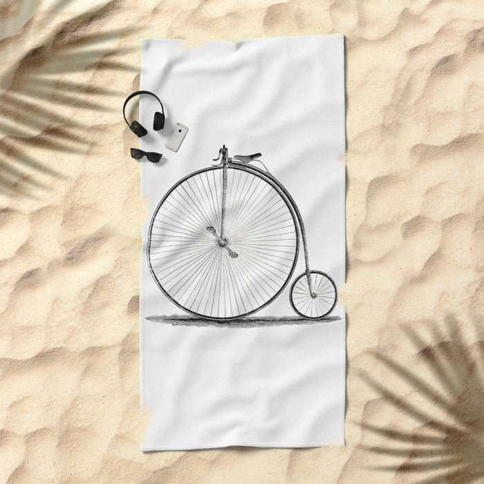 Penny-farthing. Beach Towel