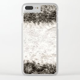 Abstract Texured Canvas Clear iPhone Case