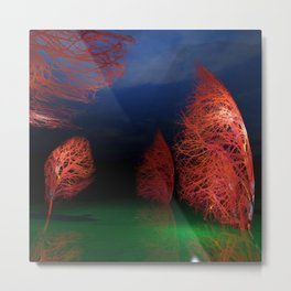 Forest landscape 3d digital art, 3d modeling, Metal Print