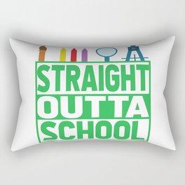 Straight outta school Rectangular Pillow